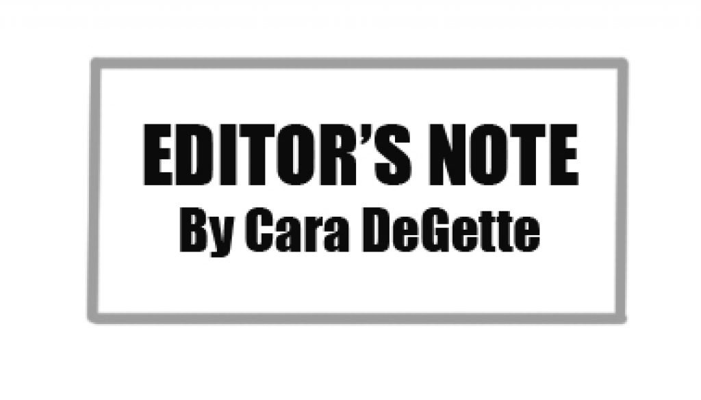 Editor's Note 2020